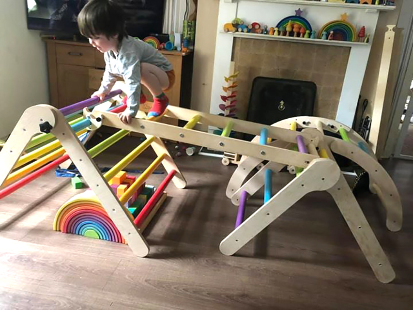Sawdust and Rainbows makes climbing frames and play items for young children and is based in Crossgar.