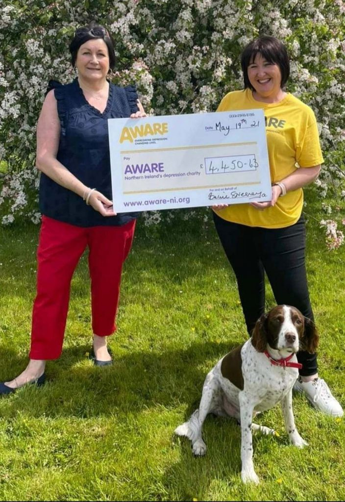 Bernie Sweeney from Crossgar with AWARE Community and Events Fundraising